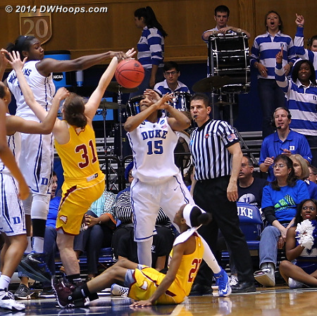 Zoe Vernon rebounded the Williams block, and was second in line to be totally obliterated