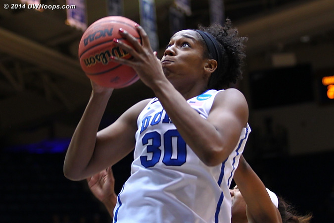 Henson goes to the hoop  - Duke Tags: #30 Amber Henson