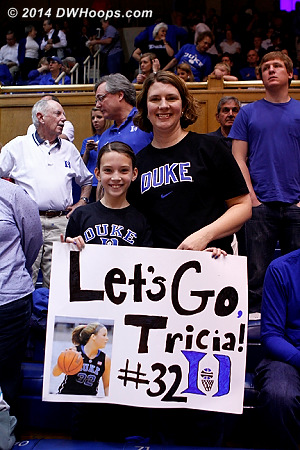 A pair of Tricia's biggest fans  - Duke Tags: Fans