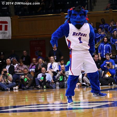 DWHoops Photo  - DEP Players: Mascot Blue Demon