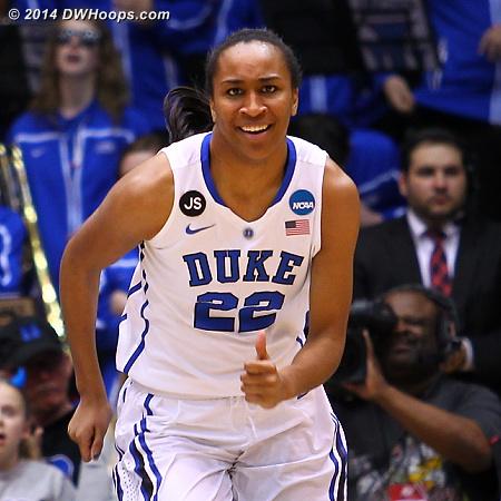 After a hard-earned deuce  - Duke Tags: #22 Oderah Chidom