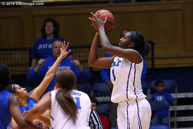 E baseline J as Duke battles back  - Duke Tags: #1 Elizabeth Williams
