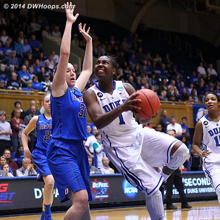 DWHoops Photo  - Duke Tags: #1 Elizabeth Williams  - DEP Players: #30 Megan Podkowa