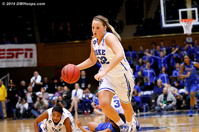 Tricia would be fouled, and miss one of two free throws.  It just wasn't Duke's night in any way.