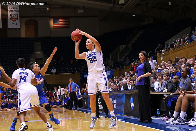 With 1:01 left, Duke trailed by eight, and this was the best quick look available, a miss.  - Duke Tags: #32 Tricia Liston
