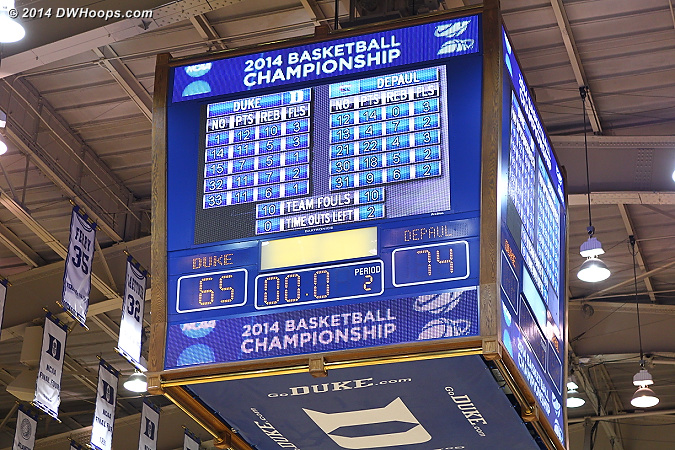 Ballgame - #7 seed DePaul advances to the Lincoln Regional with a 74-65 upset of #2 seed Duke