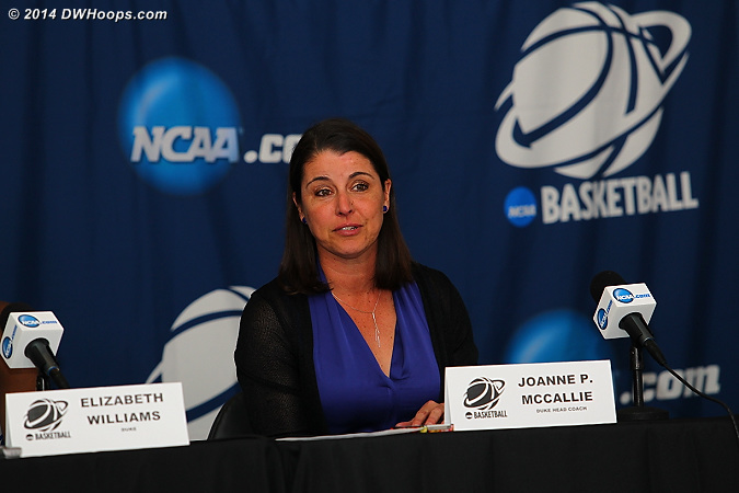 Coach P in the postgame press conference  - Duke Tags: Joanne P. McCallie
