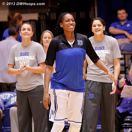 Amber Henson back on the floor for Duke while Heckman's wait continues, and Greenwell's begins  - Duke Tags: #5 Katie Heckman, #30 Amber Henson, #23 Rebecca Greenwell