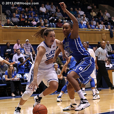 DWHoops Photo  - Duke Tags: #33 Haley Peters, #22 Oderah Chidom