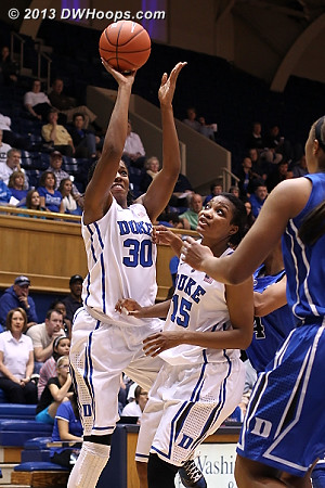 Henson fires from outside  - Duke Tags: #30 Amber Henson