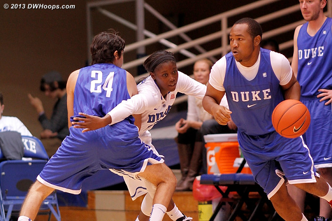 Eitan Tye (#24) sets a solid screen  - Duke Tags: #2 Alexis Jones