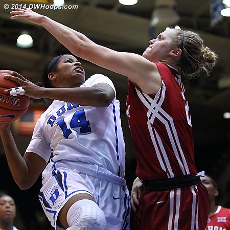 Johnson takes on Gabbi Ortiz  - Duke Tags: #14 Ka'lia Johnson