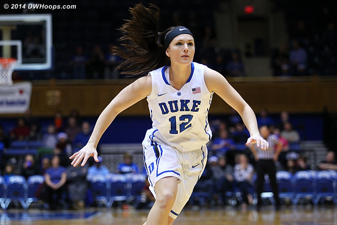 Riggs had a career high 5 assists, and just one turnover in 16 minutes at the controls  - Duke Tags: #12 Mercedes Riggs