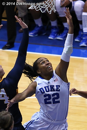 Chidom converts one of many layups  - Duke Tags: #22 Oderah Chidom