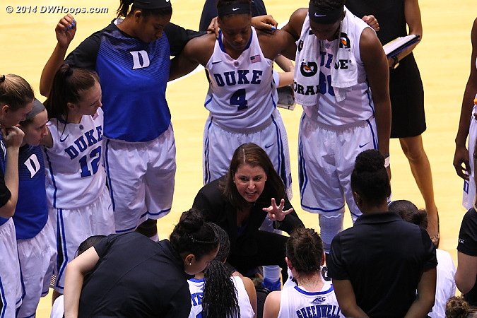 Duke Huddle  - Duke Tags: Joanne P. McCallie , Duke Bench