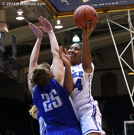 DWHoops Photo  - Duke Tags: #34 Lyne� Belton