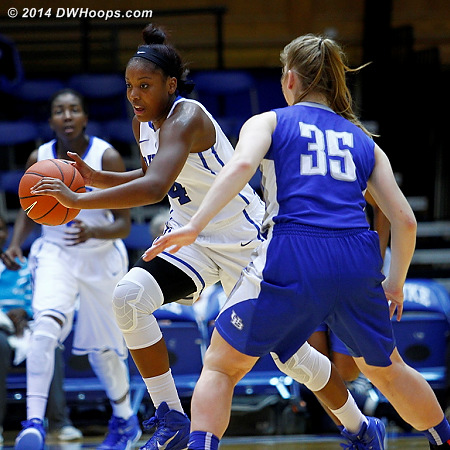 Sierra Calhoun was dominant in the second half, scoring 19 points and setting a Duke record for most consecutive free throws to begin a career.  - Duke Tags: #4 Sierra Calhoun