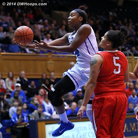 Sierra Calhoun scored 13 points in 32 minutes, good for game high in this low scoring affair  - Duke Tags: #4 Sierra Calhoun