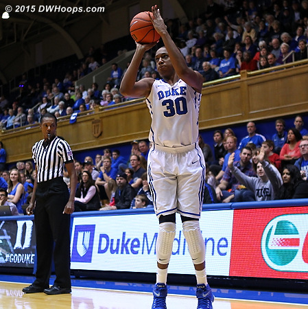 After hitting one three, Amber Henson got a wide open look to hit a second straight. They were key baskets during a stretch where Duke couldn't get a stop  - Duke Tags: #30 Amber Henson