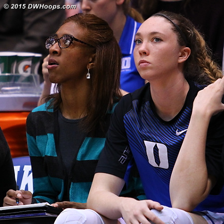 A new look for Rene  - Duke Tags: Rene Haynes, Duke Bench, #32 Erin Mathias