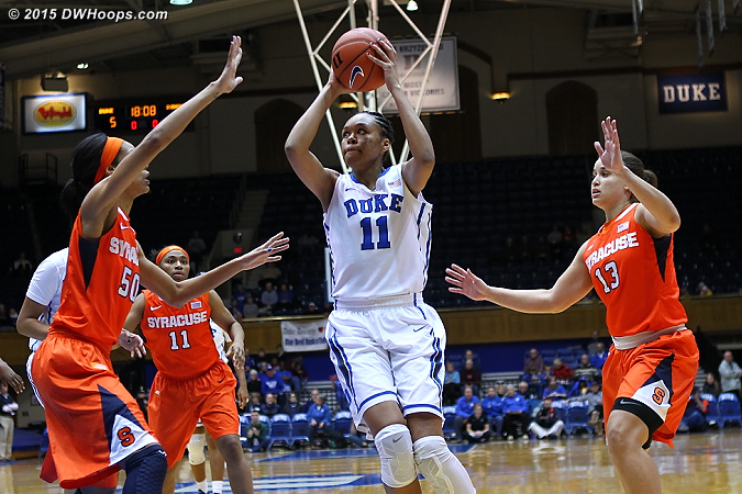 Azura Stevens only needed three minutes to score Duke's first ten points  - Duke Tags: #11 Azur� Stevens