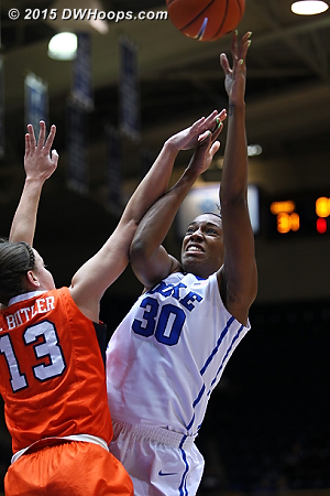 Amber Henson was an effective presence on the floor, also helping Duke to break the Syracuse man press  - Duke Tags: #30 Amber Henson