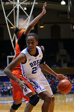 Though her stats weren't gaudy, Chidom was effective off the bench in the first half  - Duke Tags: #22 Oderah Chidom