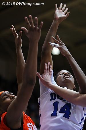 Scoring on a layup despite splinted fingers  - Duke Tags: #14 Ka'lia Johnson