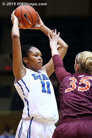 Stevens didn't always find her shot, but did find her teammates  - Duke Tags: #11 Azur� Stevens
