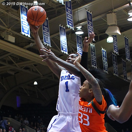 There was pretty much no answer for Elizabeth Williams who led all-comers in points (24) and rebounds (11)  - Duke Tags: #1 Elizabeth Williams