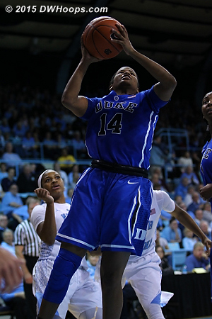 Free throws from KJ cut it to four  - Duke Tags: #14 Ka'lia Johnson