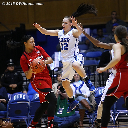 Riggs was everywhere on defense during a brief first half stint  - Duke Tags: #12 Mercedes Riggs
