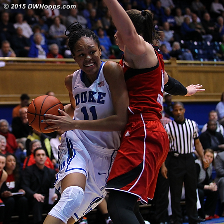Attacking the basket  - Duke Tags: #11 Azurá Stevens