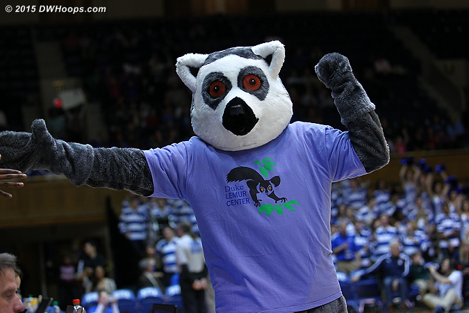Duke won its first game with the Giant Escaped Lemur in the house, improving to 1-2 with the beast present