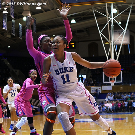 Azura Stevens continued her tear through the ACC with 17 points  - Duke Tags: #11 Azurá Stevens