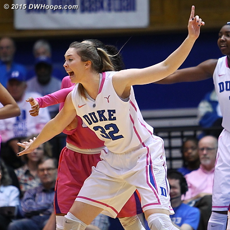 With Oderah Chidom out for the season, Erin Mathias moves firmly into the eight player Duke rotation
