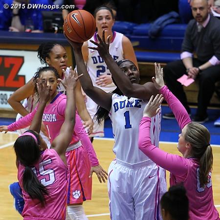 Liz draws a crowd in the lane  - Duke Tags: #1 Elizabeth Williams