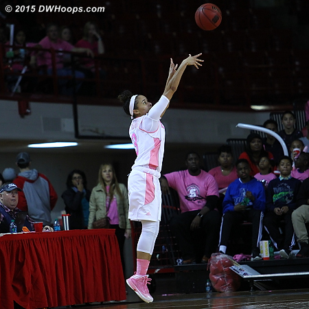 The first of many open looks for Miah Spencer  - NCSU Players: #3 Miah Spencer