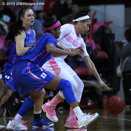 Duke's defense swarmed at times but produced few turnovers  - Duke Tags: #12 Mercedes Riggs, #14 Ka'lia Johnson