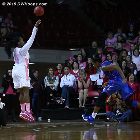 Another Duke defensive breakdown, State takes a 55-44 lead  - Duke Tags: #30 Amber Henson - NCSU Players: #11 Jennifer Mathurin