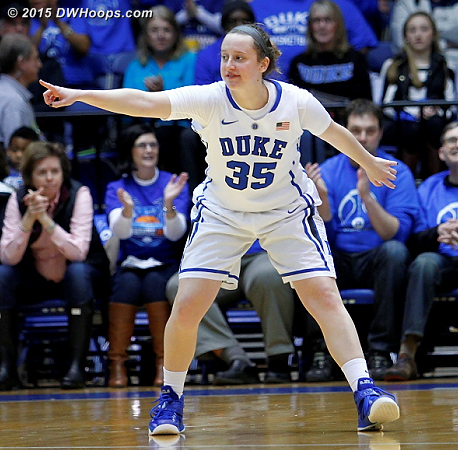 For Senior Day, Jenna Frush got the start, the first of her career. This put #EJAK fans into a frenzy with the entire quartet on the floor.  - Duke Tags: #35 Jenna Frush