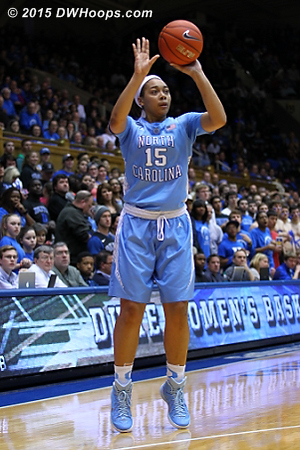 Another open look for Gray, who led the five Tar Heels in double figures with 20  - UNC Players: #15 Allisha Gray