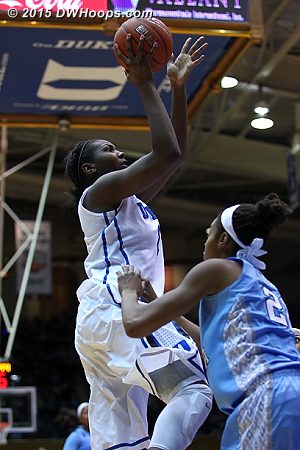 Duke was at its best when attacking the basket  - Duke Tags: #1 Elizabeth Williams
