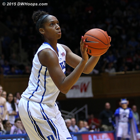 An Amber Henson three got things rolling for Duke in the second half