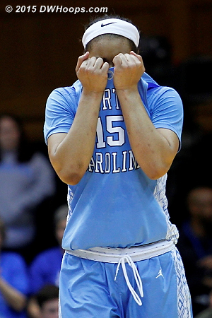 Gray was unable to convert a potentially game-tying layup with three seconds remaining  - UNC Players: #15 Allisha Gray