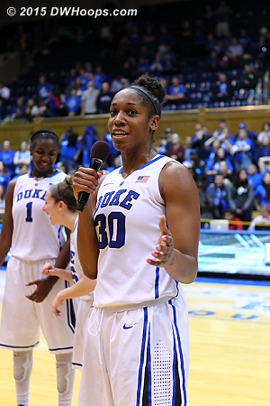 DWHoops Photo  - Duke Tags: #30 Amber Henson
