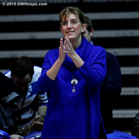 Susan Sabiston, recognized by Ka'lia Johnson during her senior day speech, has long been a DWHoops supporter.  - Duke Tags: Fans