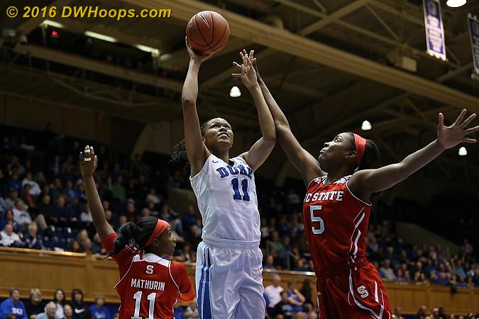 Stevens led Duke with 21 points  - Duke Tags: #11 Azur� Stevens - NCSU Players: #5 Chelsea Nelson
