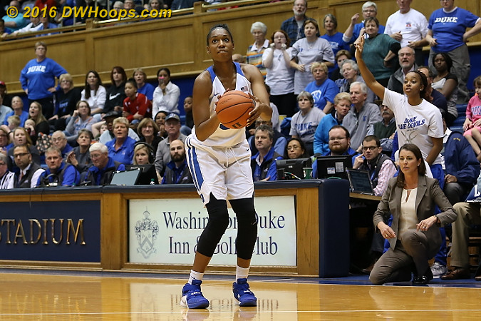 With Duke down 62-59 and 32 seconds left, Amber Henson was unable to convert this wide open look to tie the game  - Duke Tags: #30 Amber Henson