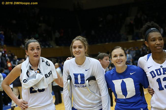 DWHoops Photo  - Duke Tags: #12 Mercedes Riggs, #23 Rebecca Greenwell, #2 Haley Gorecki, #13 Crystal Primm